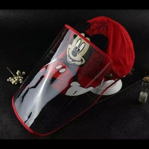 MICKEY MOUSE CAP FACE SHIELD FULL PROTECTION HAT